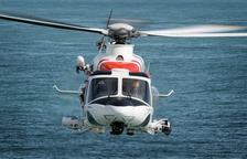 Imatge d'un helicòpter de Salvament Marítim.