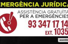 L'ANC ofereix un telèfon d'assistència jurídica gratuïta només per a casos d'emergència