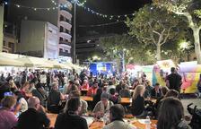 Imatge de la zona gastronòmica de l'edició passada de la Fira de Santa Teresa.