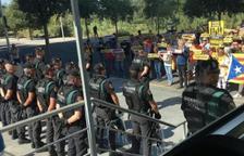 Los guardias civiles denuncian la falta de días de descanso durante el despliegue en Cataluña