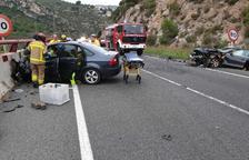 Cinc ferits, dos d'ells en estat greu, en un accident de trànsit a La Riba