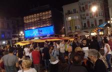 Manifestants arriben a la Mercadal per rebutjar la condemna del Suprem