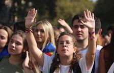 Els estudiants comencen tres dies de mobilitzacions en contra de la sentència de l'1-O