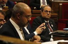 Torra convoca una reunió al Palau amb Aragonès, Buch i Budó