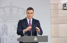 El presidente del gobierno en funciones, Pedro Sánchez, en La Moncloa.