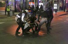 Set persones ferides a Tarragona durant les protestes de divendres a la nit