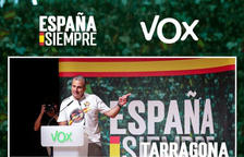 Acte d'Ortega Smith (VOX) aquest dimarts a Tarragona