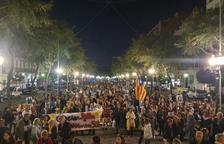 Tarragona reclama en la Rambla Nueva la libertad de los presos independentistas