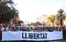 Unas 350.000 personas asisten a la manifestación contra la sentencia del 1-O en Barcelona, según la Guardia Urbana