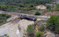 La circulació de trens entre Lleida i Tarragona afectada a llarg termini després de les inundacions