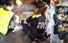 Dos detenidos y más de 50 kilos de hachís intervenidos en una operación policial en Roda de Berà