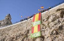 VOX es manifesta a Tarragona contra «l'odi i la violència dels CDR»