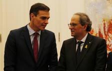 Torra vuelve a llamar a Sánchez pero Moncloa responde de que el líder del PSOE está reunido