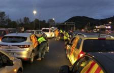 La acción de Tsunami Democrático en Irún provoca una cola de hasta 11 kilómetros en la autopista A-8