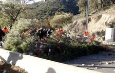 Reabren el AP-7 en sentido sur en la frontera después de 31 horas de corte convocado por el Tsunami Democrático