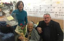 El Ayuntamiento de Arboç hace un homenaje a Amèlia Guardià por sus ciento ocho años