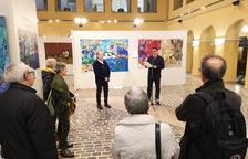 El Pati de la Diputació acull l'exposició d'obres de gran format 'Mediterrània', de l'artista Nicobouselles