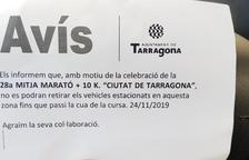 Queixes i malestar pel tall de carrers en motiu de la 28a Mitja Marató 'Ciutat de Tarragona'