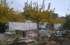 Vuit famílies malviuen al Càmping La Unión 9 mesos després del tancament