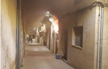 Incendio en unos bajos de un edificio abandonado del centro de l'Arboç