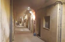 Imatge de les flames sortint de l'edifici.