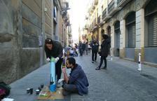 Les pilones del carrer de Sant Llorenç presenten una nova imatge