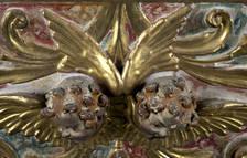 Imagen del estado del retablo Santa Anna de la Catedral de Tortosa antes de la restauración