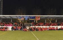 Los más de 250 futbolistas que forman parte del UD Salou