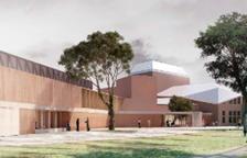Imagen simulada del futuro auditorio Felip Pedrell de Tortosa con la ampliación de la tercera sala ejecutada.