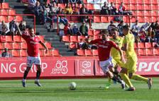 Javi Márquez y Goldar en una acción en el último partido disputado contra el Villarreal B.