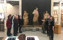 La Generalitat restaura la cortina de l'àtic de la Catedral de Tarragona