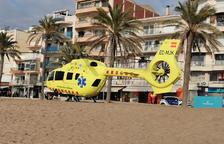 Evacuado en helicóptero un hombre que ha sufrido un paro cardiorrespiratorio en Calafell
