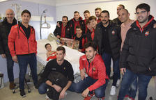 Jugadors del Reus d'Hoquei visiten l'Hospital  Sant Joan