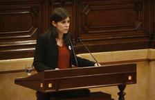 La portaveu d'ERC, Marta Vilalta, al ple del Parlament