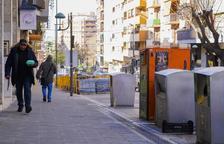 L'Ajuntament de Tarragona no treu els contenidors soterrats tot i el canvi de voreres