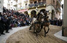 Valls celebra els Tres Tombs con casi 300 caballos y un centenar de carros