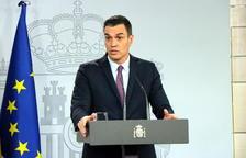 El presidente del gobierno español, Pedro Sánchez, durante la rueda de prensa posterior al consejo de ministros.