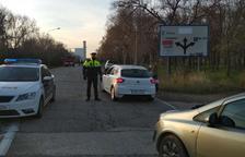 Los Mossos restringen el acceso a la zona próxima en IQOXE en la Canonja