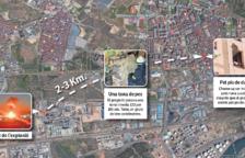 El projectil, que va impactar a Torreforta, va recórrer entre 2 i 3 quilòmetres fent una paràbola