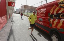 El president del Nàstic fa fora de l'estadi a Petcoff i Viti abans del partit