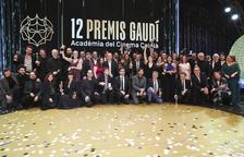 Foto de familia de los premiados en los Premis Gaudí, el 19 de enero del 2020.