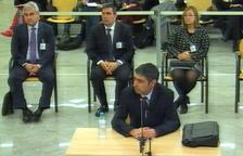 El mayor Josep Lluís Trapero durante su declaración en el juicio de la Audiencia Nacional este 20 de enero del 2020.