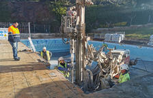 En marxa les obres d'arranjament de la piscina municipal de Masriudoms