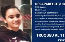 Busquen una noia de 14 anys desapareguda a Tortosa