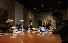 Torra reuneix a Palau els consellers amb competència en la gestió dels efectes del temporal