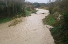 El río Gaià se desborda a su paso por Aiguamúrcia