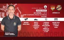 El Gimnàstic de Tarragona convoca 18 jugadors pel partit de l'Andorra