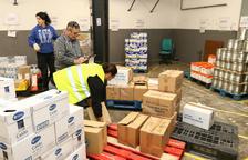 1.600 familias en situación de pobreza colapsan la red de distribución de alimentos en Reus