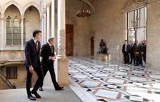 Comença la reunió de Torra i Sánchez al Palau de la Generalitat entre una gran expectació mediàtica i política