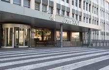 Puerta de entrada principal en el hospital Joan XXIII de Tarragona